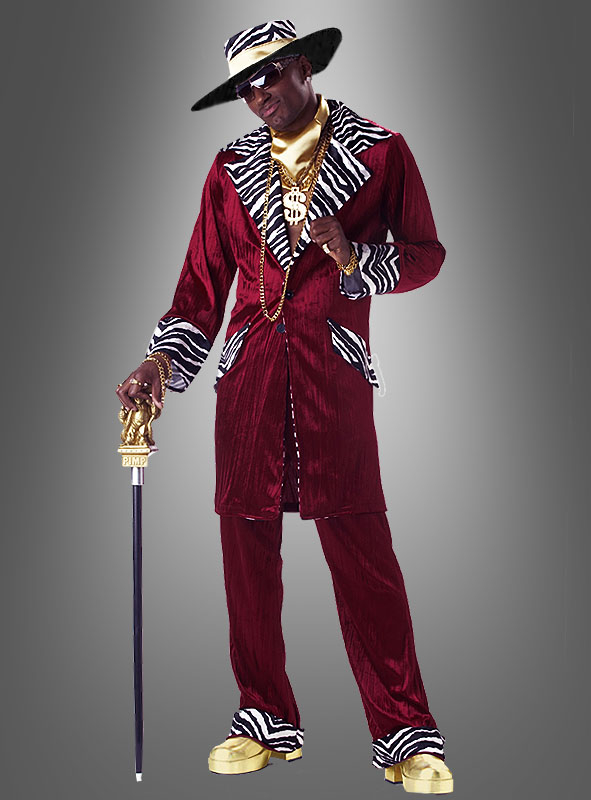 Cool Pimp Daddy Costume burgundy