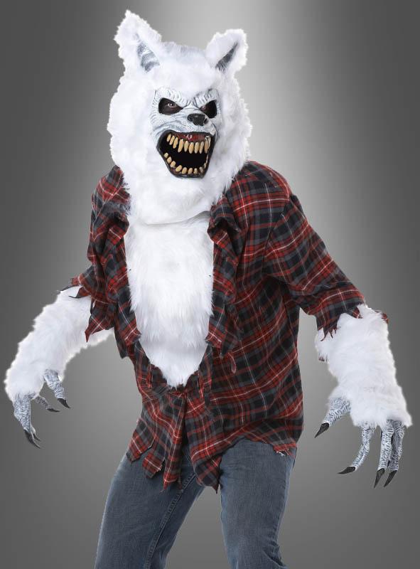 werwolf kost m herren in wei mit motion maske. Black Bedroom Furniture Sets. Home Design Ideas