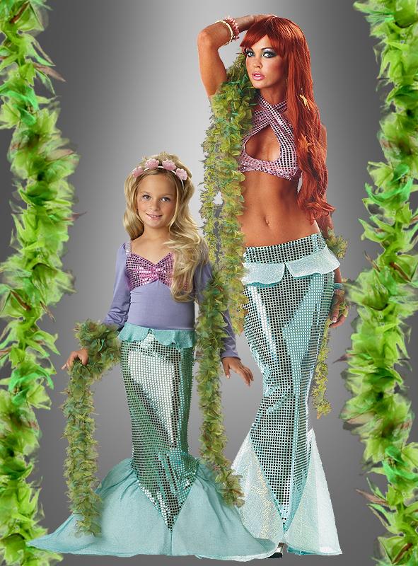 Seegras Boa für Meerjungfrau Kostüm
