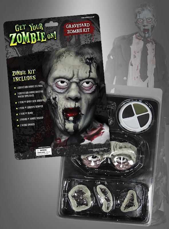 Zombie Makeup Set mit Latexaugen