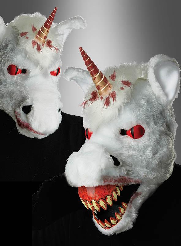 Halloween Einhorn Maske Ani-Motion