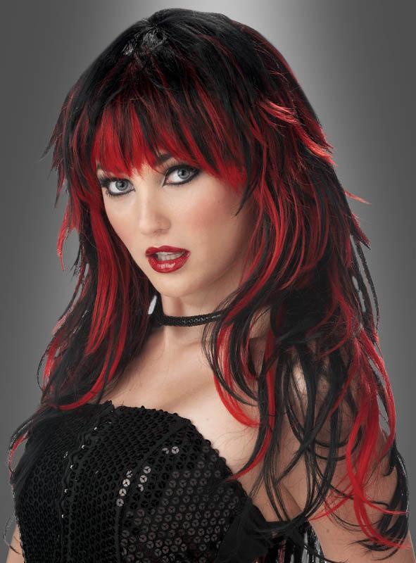 Tempting Tresses Wig black-red