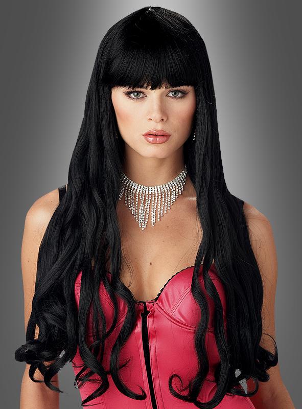 Serpentine wig black long