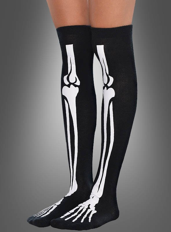 Over-The-Knee Skeleton Socks Adult