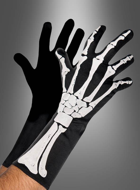 Schwarze Skeletthandschuhe für Erwachsene