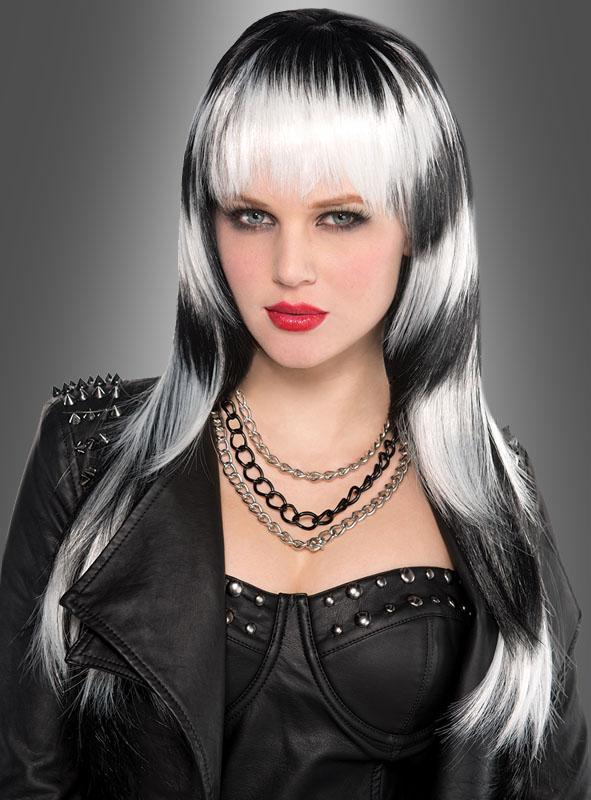 Black & White 80s Wig Women
