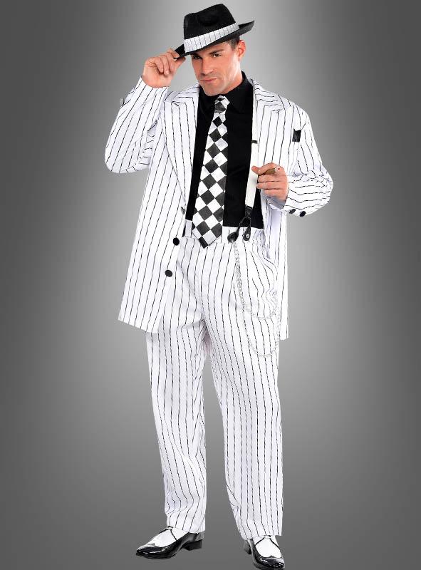 Gangster Costume white