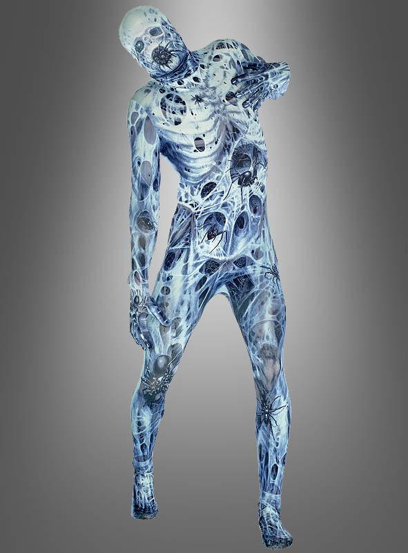 Halloween Morphsuit Verfaulte Leiche mit Spinnen