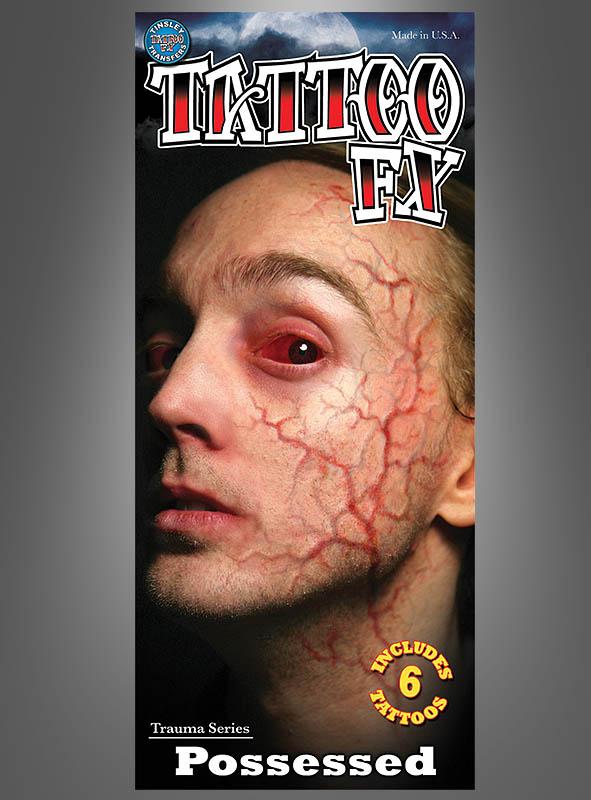 Blood Vessel Tattoo Makeup