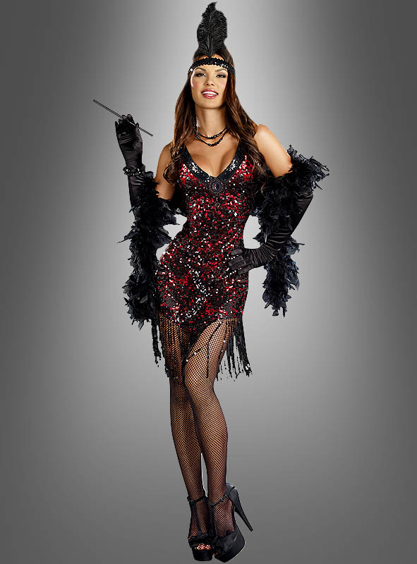 Deluxe Flapper Dress with Sequins