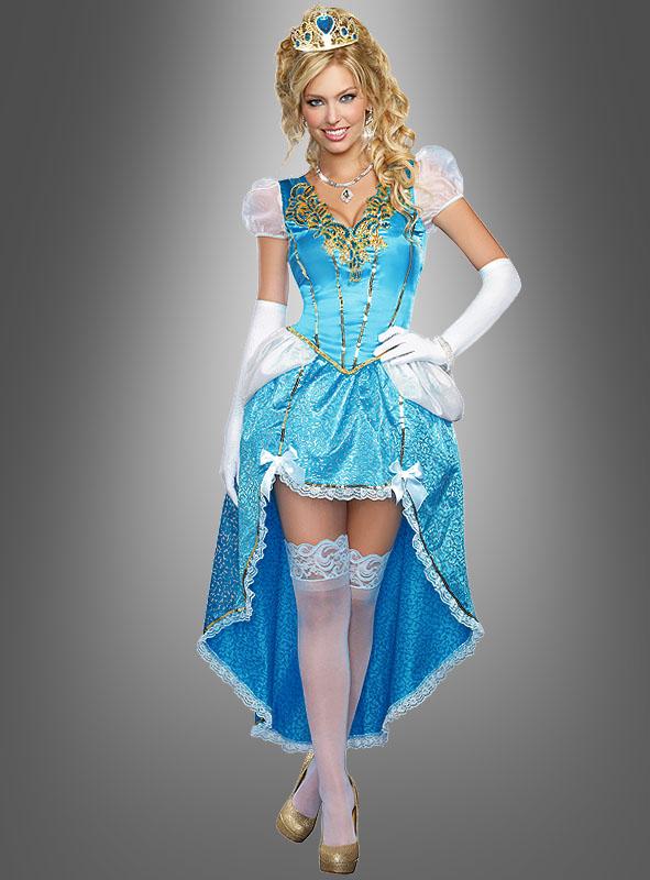 Märchenhaftes Ballkleid blau