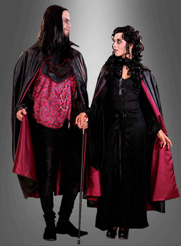Vampire Cape Dracula black and red
