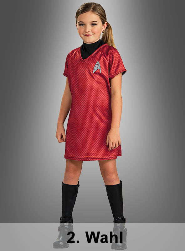 2. Wahl STAR TREK Uhura Kleid Kinderkostüm