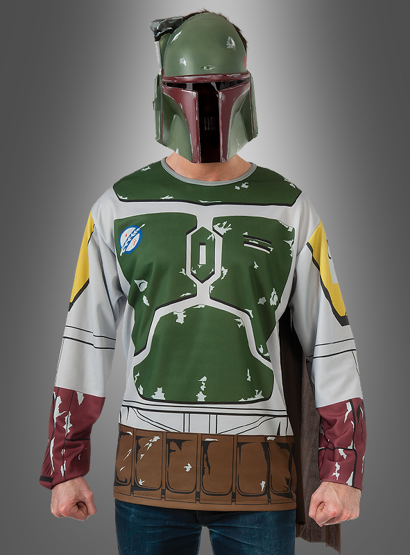 boba fett shirt star wars kost m karneval. Black Bedroom Furniture Sets. Home Design Ideas