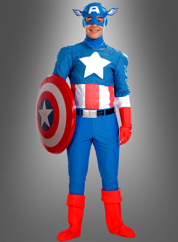 captain america kost m deluxe bei kost mpalast. Black Bedroom Furniture Sets. Home Design Ideas
