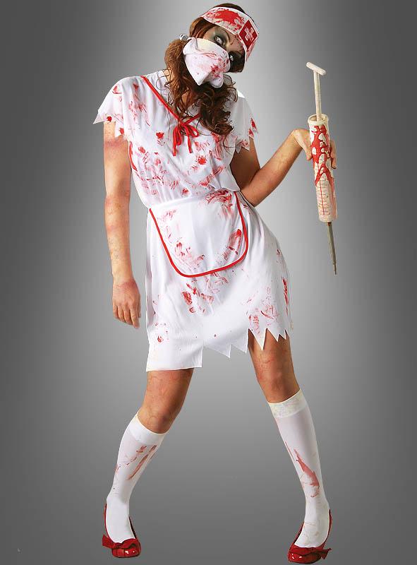 Blutiges Krankenschwester-Kostüm bei Kostümpalast.de