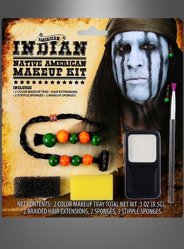 indianer schminke make up set karneval. Black Bedroom Furniture Sets. Home Design Ideas