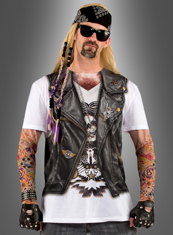 Tattoo Shirt Herrenkostüm für Karneval bei Kostümpalast