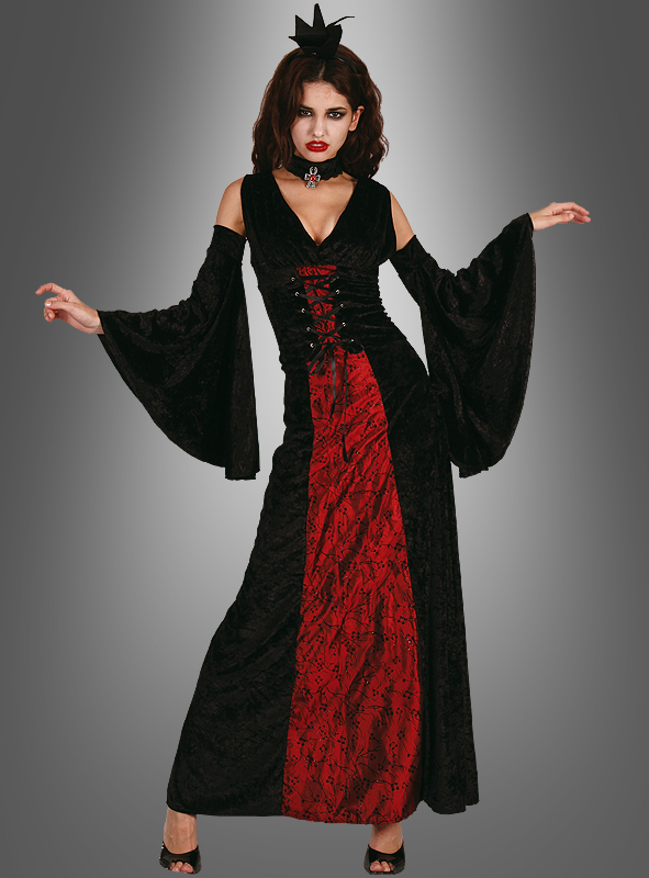 vampir kost m f r damen halloween kost m gothic kleid. Black Bedroom Furniture Sets. Home Design Ideas