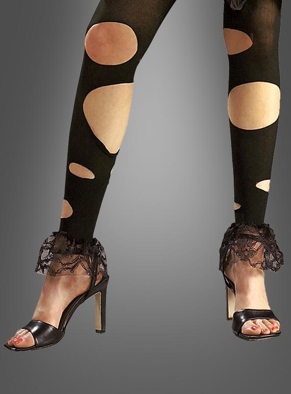pin schwarze leggings mit l chern und spitze bei kostuempalast on. Black Bedroom Furniture Sets. Home Design Ideas