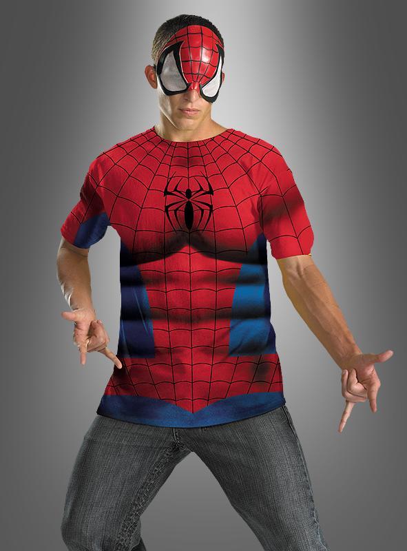 spiderman shirt und maske bei. Black Bedroom Furniture Sets. Home Design Ideas