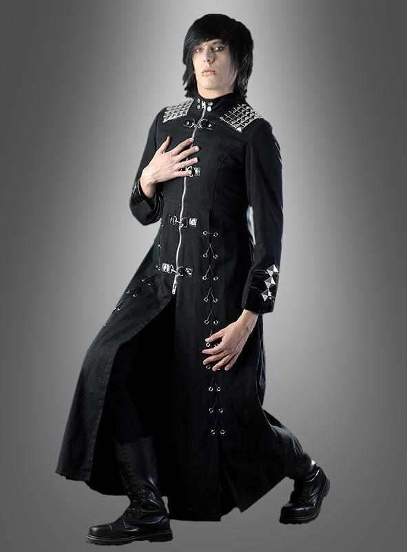 Schwarzer gothic mantel unisex bei for Schwarzer langer mantel