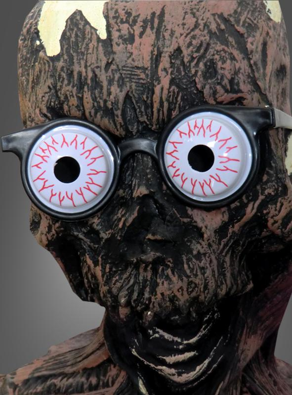 zombie make up und brille f r halloween. Black Bedroom Furniture Sets. Home Design Ideas