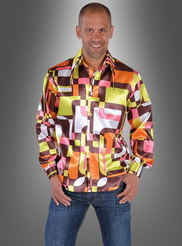 disco outfit hemd kost m 60er jahre mottoparty. Black Bedroom Furniture Sets. Home Design Ideas