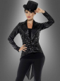 Sequin Tailcoat Women black