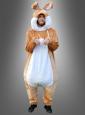 Plüschiges Hasenkostüm braun für Erwachsene