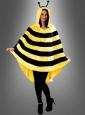 Biene Poncho aus kuschelweichem Plüsch S-XXXL