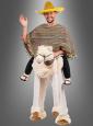 Deluxe Lama Kostüm Alpaka Reiter mit Poncho