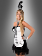 Sexy Rockstar Gitarrenkostüm schwarz