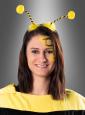 Haarreif Biene mit gelben Pompons