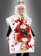 Spielkartenkostüm Herzdame mit Krone