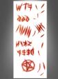 Tattoo Teufel Dämon geritzte Wunden