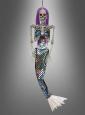 Meerjungfrau Skelett Halloween Deko mit Sound 120cm