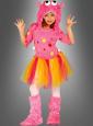 Pinkfarbenes Monster Mädchenkostüm