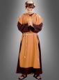 Mönchskostüm 2-farbig  mit Kapuze