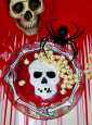Plate with Skull and Blood
