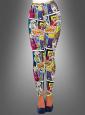 Pop Art Leggings mit Comic Print