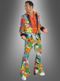 70s Suit Neon Flowers