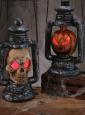 Halloween Lampe Laterne mit Licht