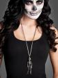 Halskette Skelett silberfarben