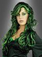 Witch Wig Black-Green