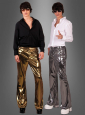 70s Glossy Trousers