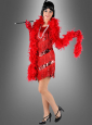 Rotes Charlestonkleid für Mafiabraut