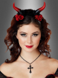 Devil Horns Red with Roses
