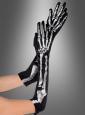 Lange Skeletthandschuhe