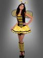 Sexy Biene Kostüm schwarz-gelb
